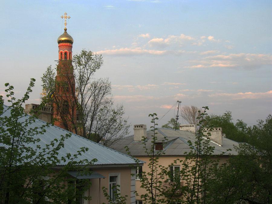 Колокольня Вознесенского монастыря в Тамбове. 2013 г.
