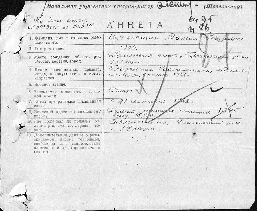 М.П. Щекочихин. С. Глазок Тамбовской области