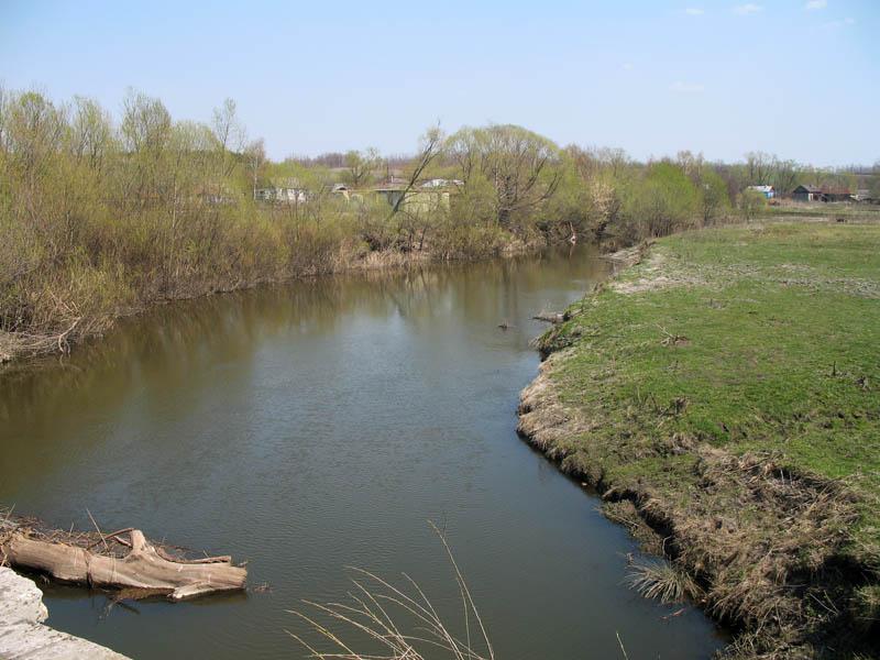 Река Вяжля у с. Варваринка. Фото 2006 г.