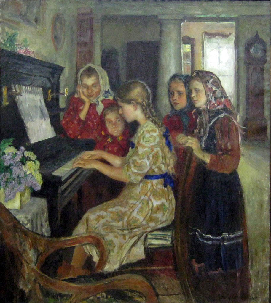 Н.П. Богданов-Бельский. Ученицы