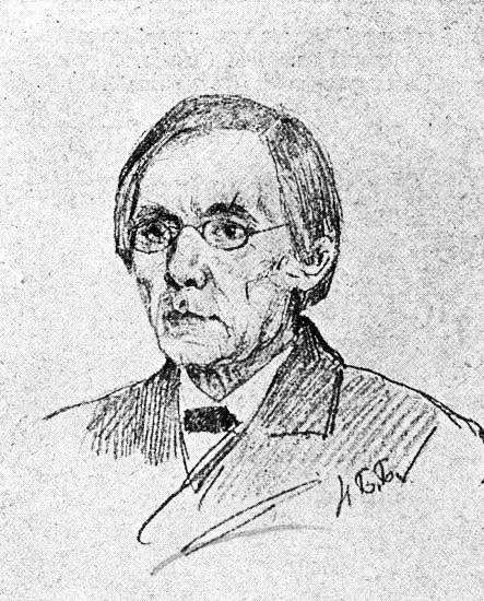 Портрет С.А. Рачинского. Рис. Н.П. Богданова-Бельского