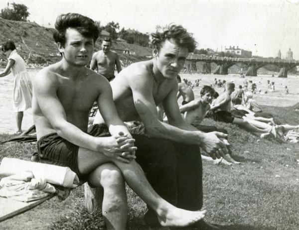 На пляже в парке Дружбы в Тамбове. Фото 1950-х гг.
