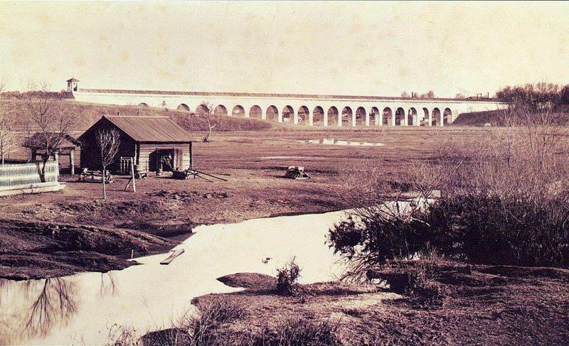 Ростокинский акведук. Москва. Фото конца 19 - начала 20 в.