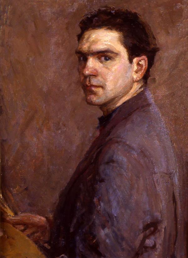 Е.В. Рябинский. Автопортрет. 1954