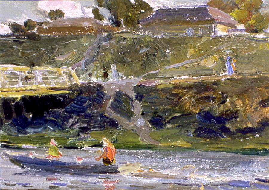 Е.В. Рябинский. На реке Цне. 1957