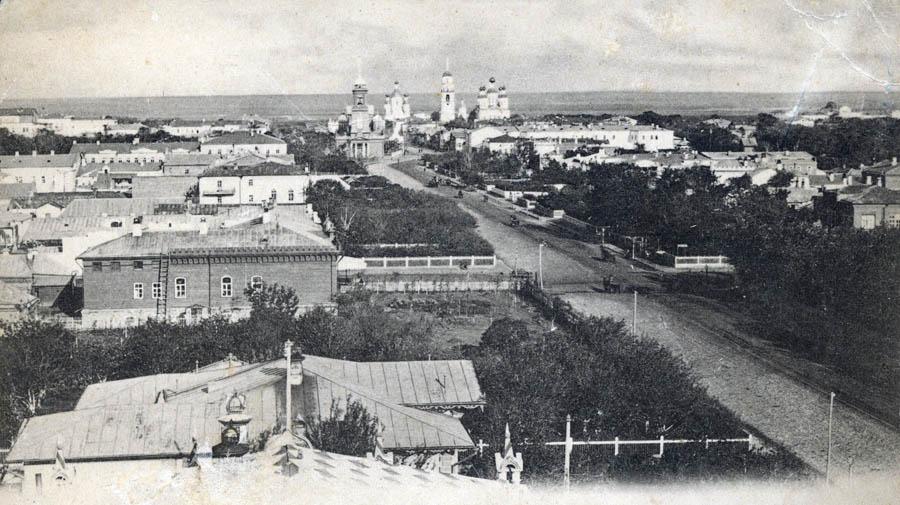 Улица Дворянская в Тамбове. Фото начала 20 в.