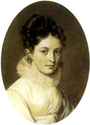 Е.П. Бакунина. Автопортрет 1816 г.