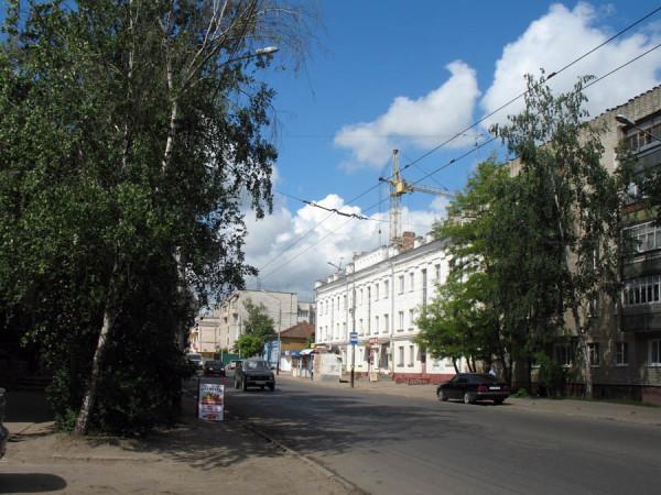 Улица Московская в Тамбове. Фото 2013 г.