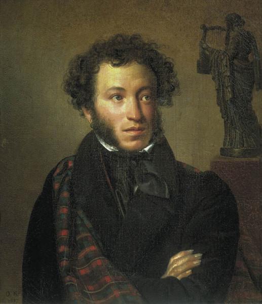 О. Кипренский. Портрет А.С. Пушкина. 1827