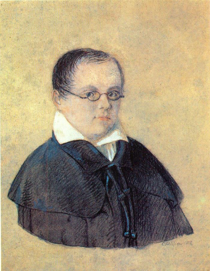 К. Шлезигер. Портрет А.А. Дельвига. 1827