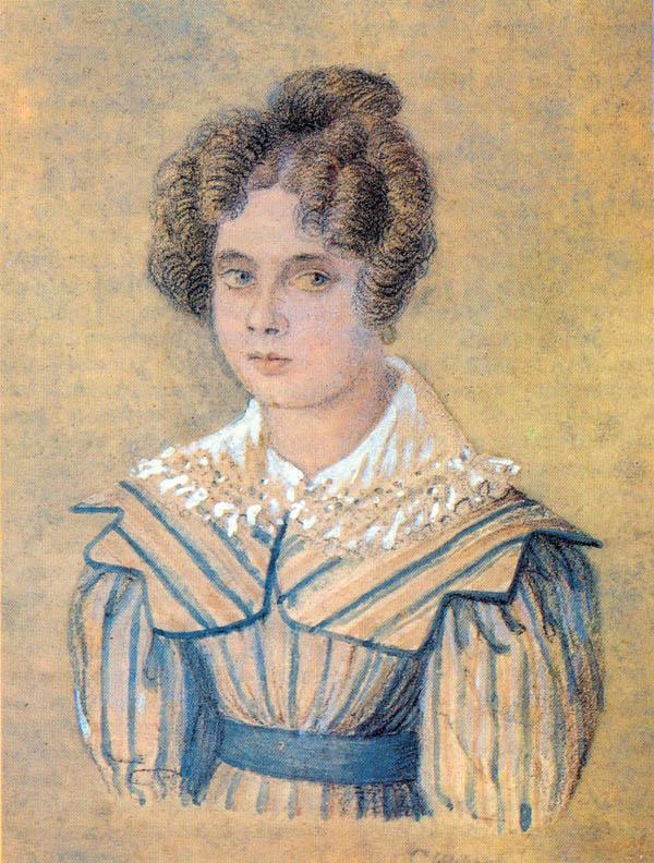 К. Шлезигер. Портрет С.М. Дельвиг. 1827