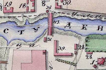 Фрагмент плана города Тамбова 1832 г.