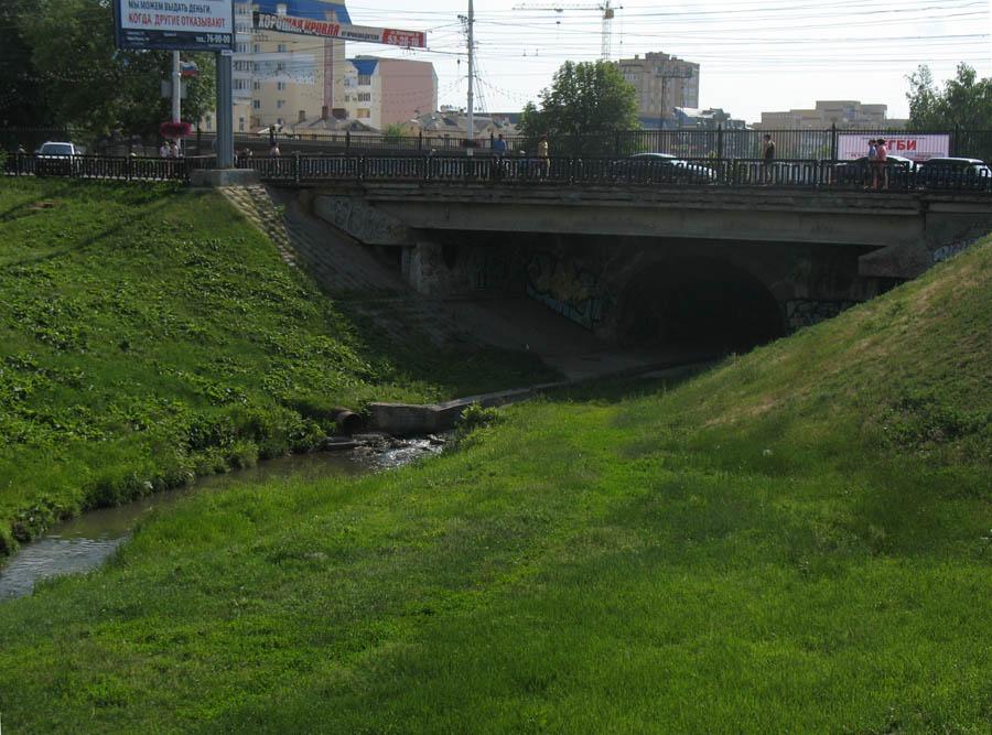 Державинский мост в Тамбове. Фото 5 июня 2013 г.