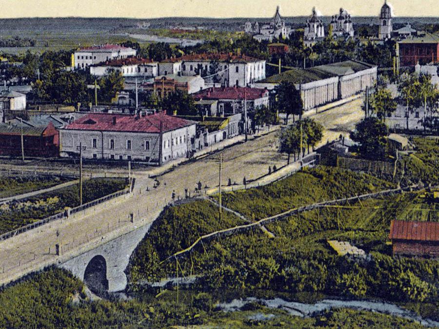 Тамбов. Вид с колокольни Троицкой церкви. Фото начала 20 в.