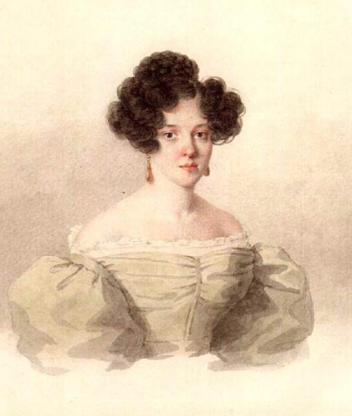 Портрет Варвары Аврамовны Рачинской (Боратынской). 1830-е гг.