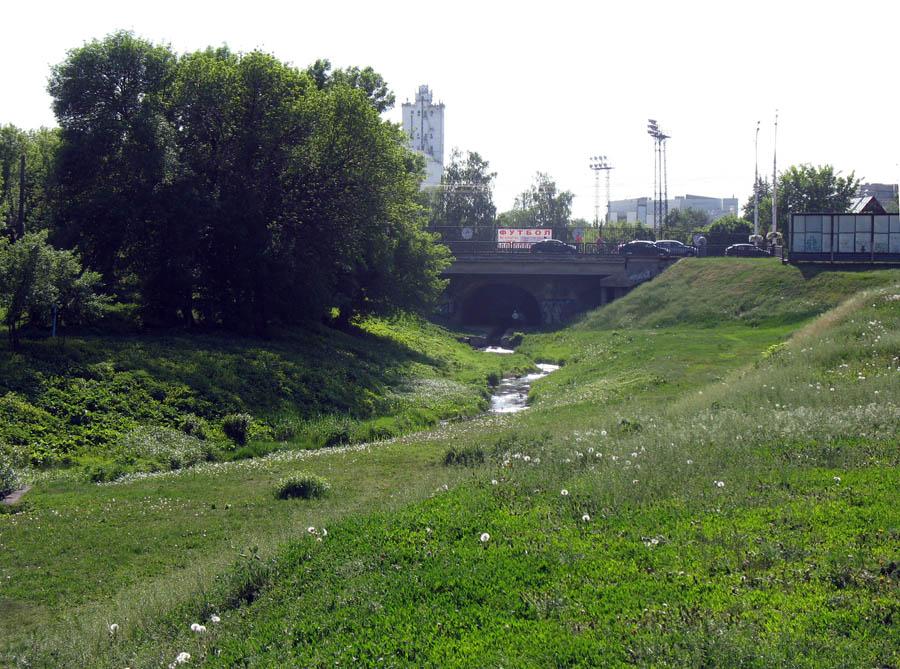 Державинский мост через речку Студенец в Тамбове. Фото 2013 г.