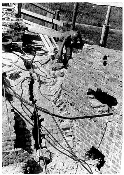 Реставрация моста в 1972 году