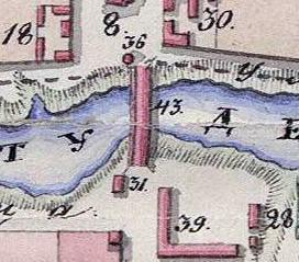 3. Державинский мост через речку Студенец. Фрагмент плана Тамбова 1832 г