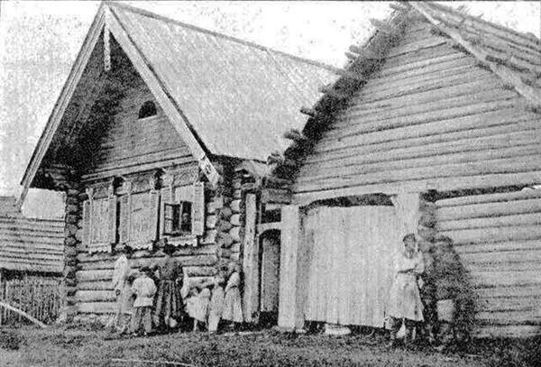 Крестьянские дома в Tамбовской губернии. Фото 1899 г.