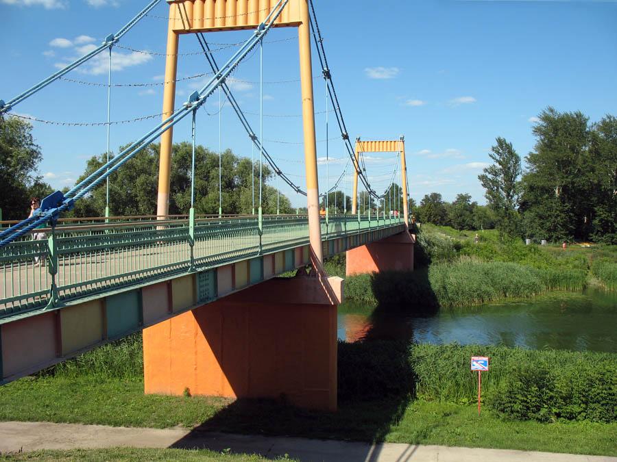 Тезиков мост в Тамбове. Фото 2 июля 2013 г.