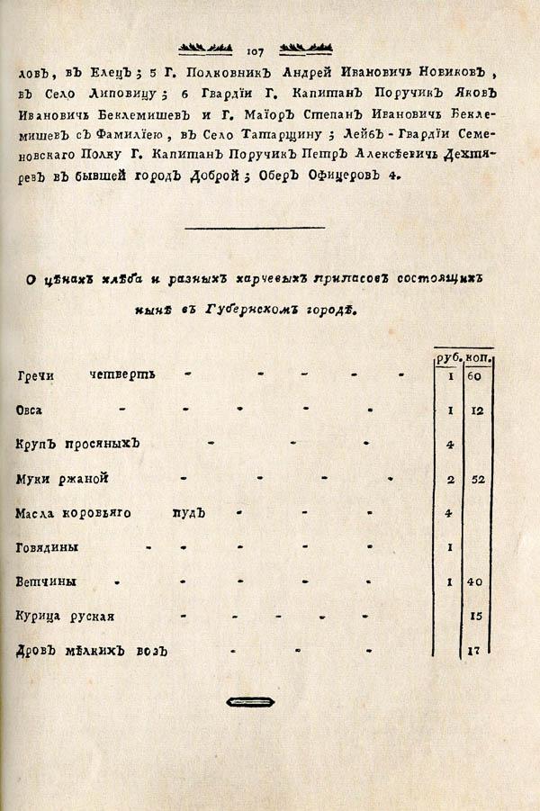 Тамбовские известия,  1788. №27 3