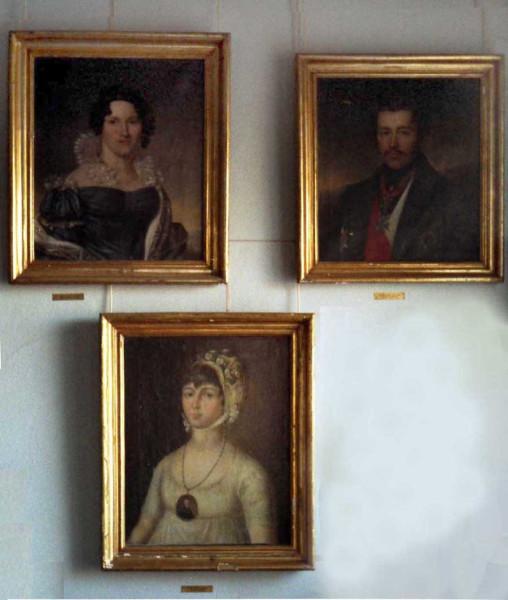 Фамильные портреты из усадьбы Ракша (один из них, по-видимому, Б.П. Мансурова)