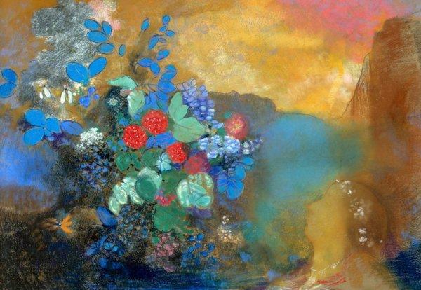 Редон. Офелия среди цветов