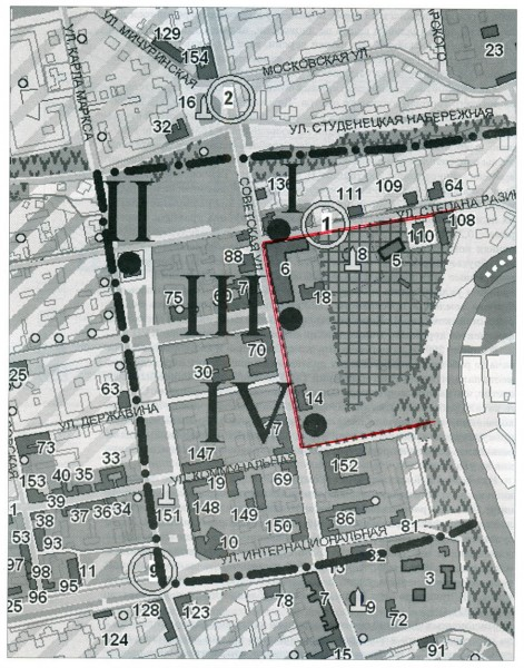Фрагмент градостроительного плана города Тамбова 2010 г.