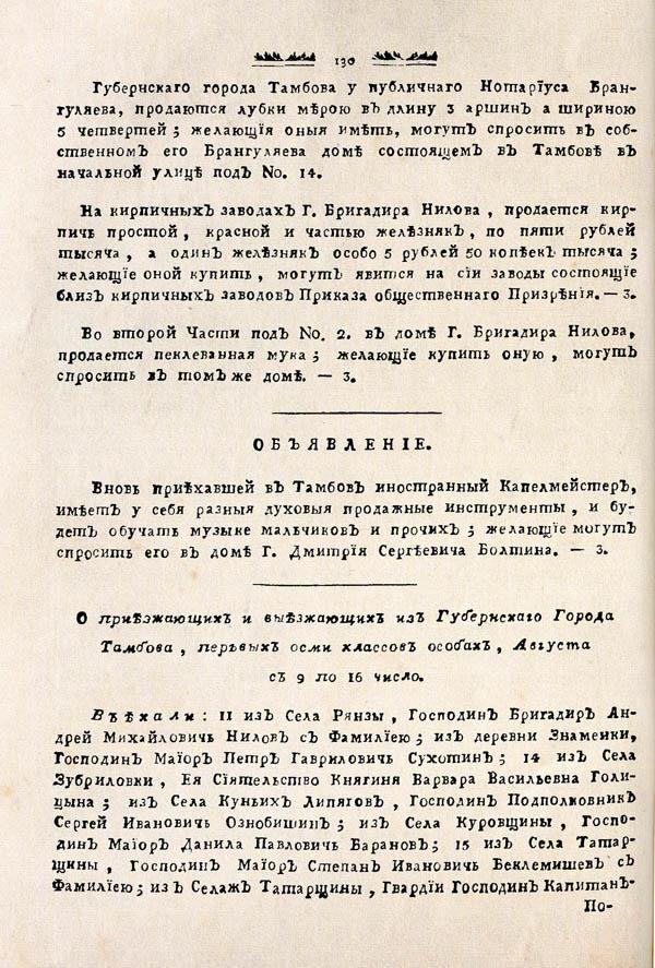 Тамбовские известия,  1788. №33 2