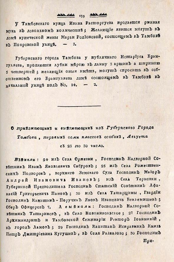 Тамбовские известия,  1788. №35 3