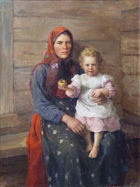 женщина с ребенком. портрет сестры. 1903