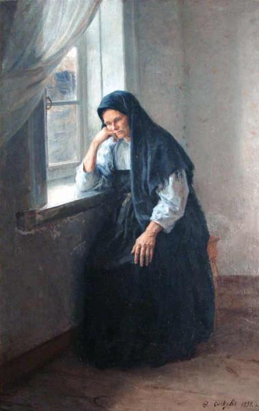 портрет  Анны Ивановны Сычковой, матери худ-ка, 1898