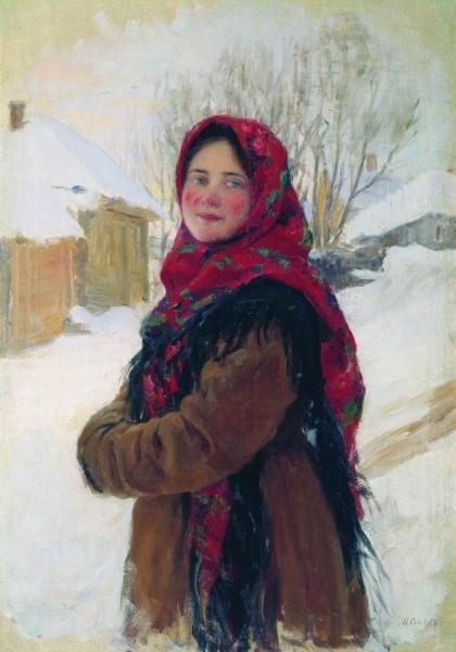 крестьянская девушка. 1900-1917