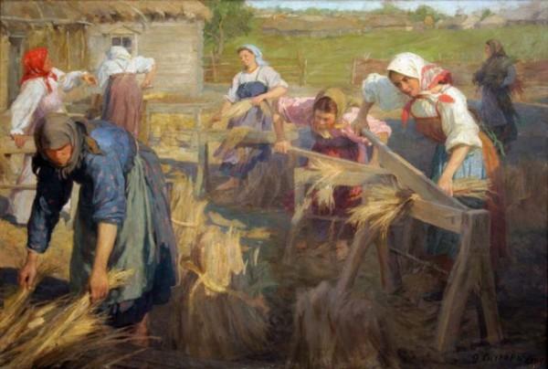 мяльщицы льна. 1905