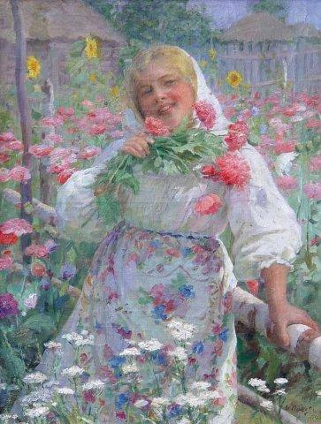В цветущем огороде. 1913