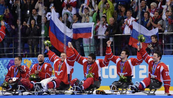 сборная России, завоевавшая серебро по следж-хоккею