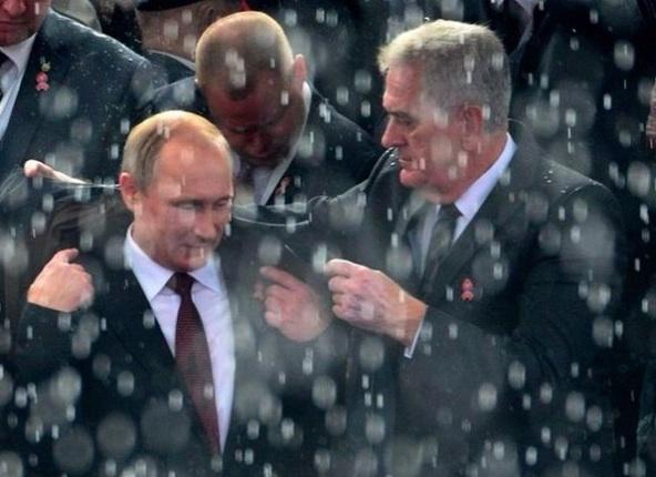 Путин и снег