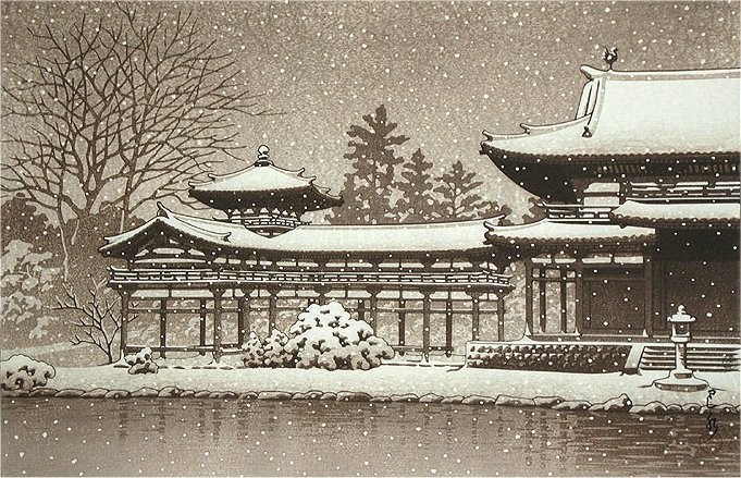 Evening-Snow-at-Byodoin-Temple