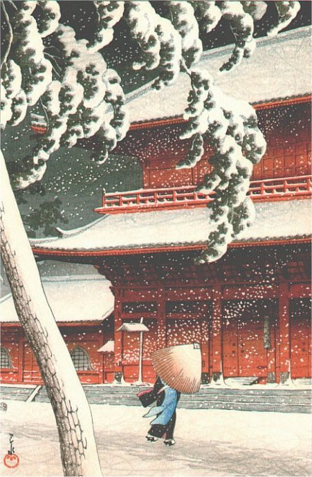 Snow-at-Zozoji-Temple-Shiba