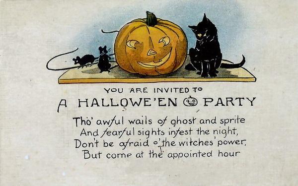 Возрасте, открытка на хэллоуин на английском языке