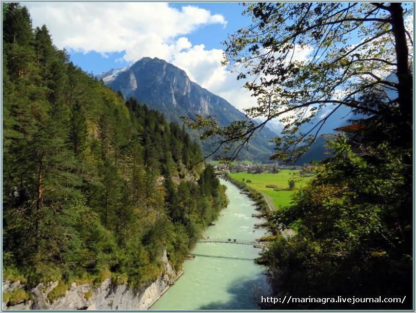 Многоликая  швейцарская река Ааре. Часть 1. Аарское ущелье