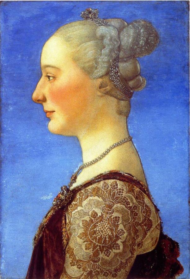 4.-Pollaiolo-Ritrattfemminile-Firenze-Galleria-Uffizi