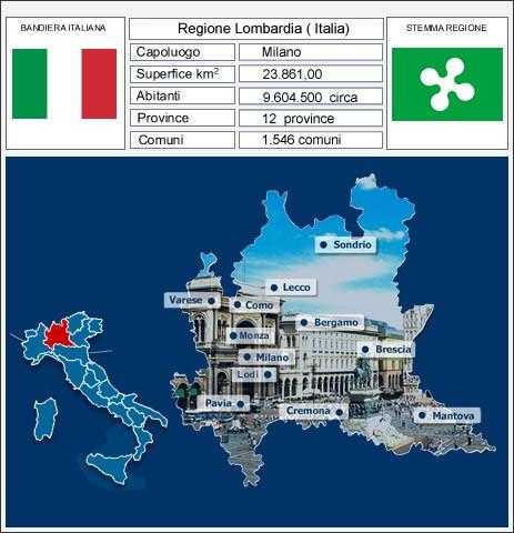 Cartina nuova  Lombardia