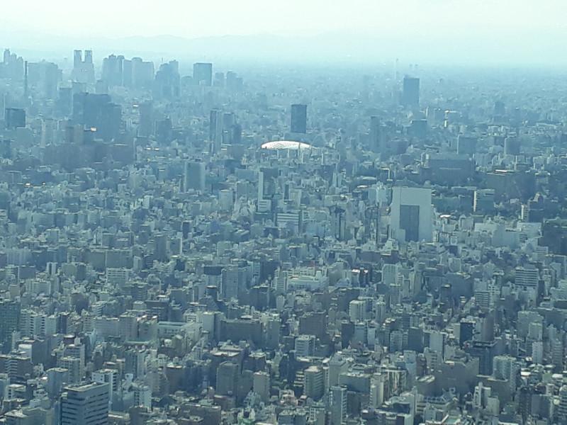 Tokyo Dome est la tache blanche que vous voyez ^^