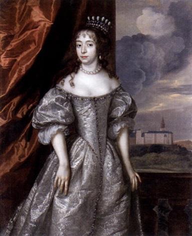 sir-peter-lely-porträtt-föreställande-kvinna-av-kunglig-börd