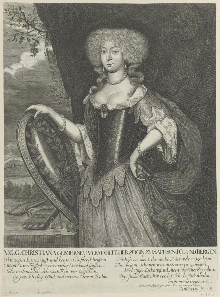 Bildnis der Herzogin Christina zu Sachsen und Bergen