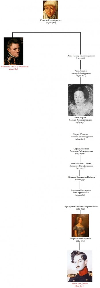 William the Silent George d'Anthes Genealogy