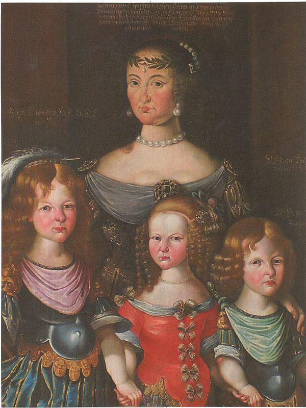 Magdalene Sibylle mit Kinder 1662