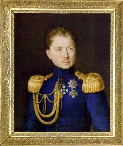 johann-michael-holder-william-i,-king-of-württemberg,-in-blue-coat-with-gold-epaulettes-and-aiguillettes-from-the-right
