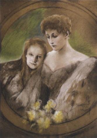 joszi-arpad-koppay-kronprinzessin-stephanie-mit-ihrer-tochter-erzherzogin-elisabeth